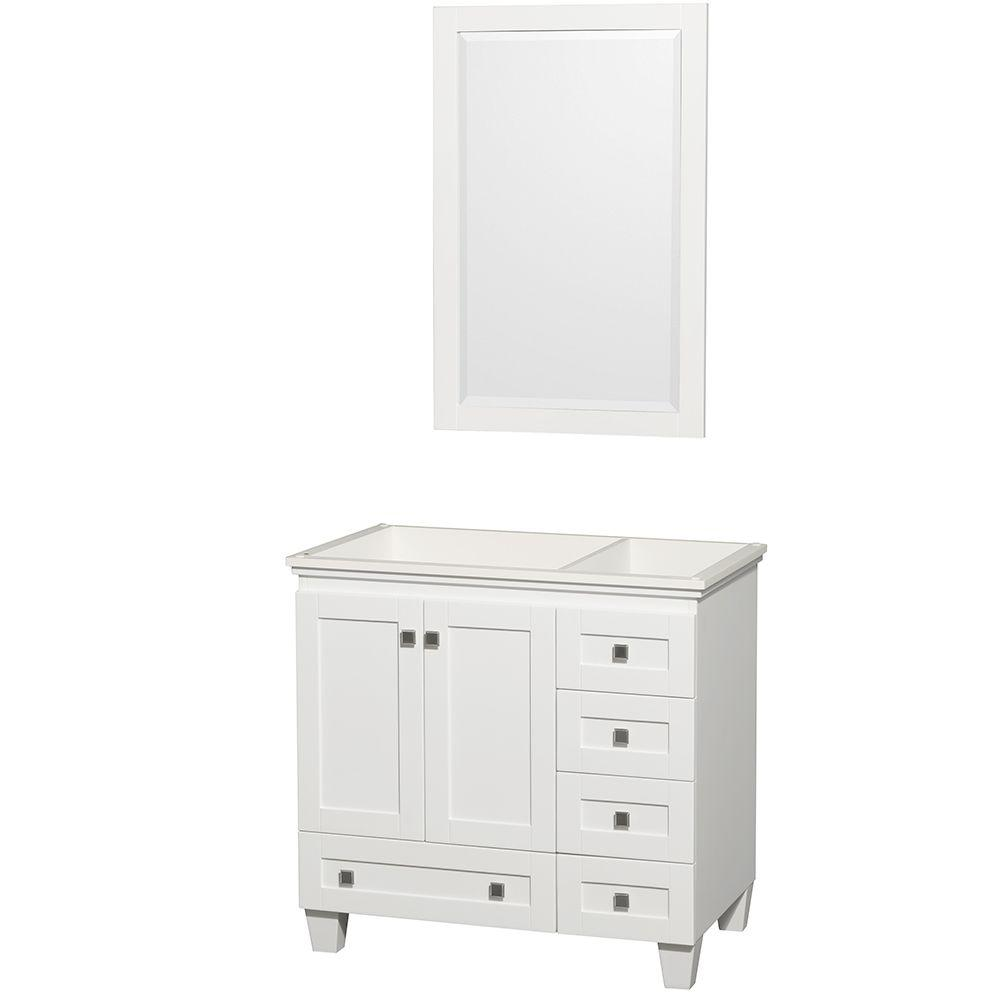 Wyndham Collection Acclaim 36 In Vanity Cabinet With Mirror In