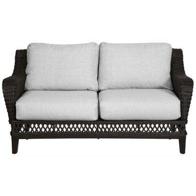 Woodbury All-Weather Wicker Outdoor Patio Loveseat with Cushions Included, Choose Your Own Color