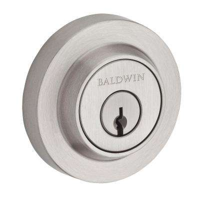Reserve Contemporary Single Cylinder Satin Nickel Round Deadbolt