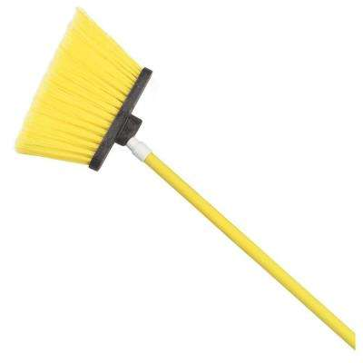 Sparta Spectrum 56 in. Duo-Sweep Angle Broom with Flagged Bristle in Yellow (Case of 12)