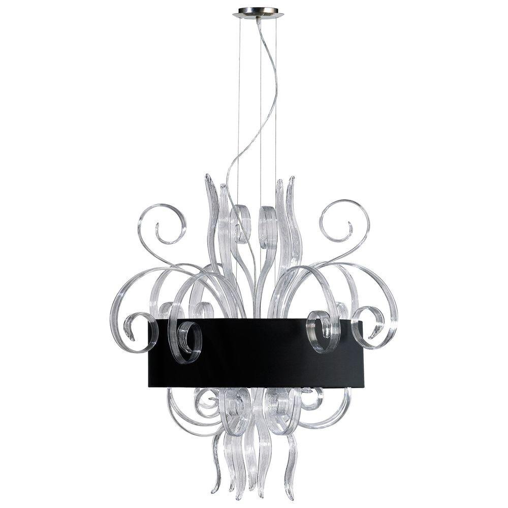 Filament Design Prospect 8-Light Clear and White Retro Art Pendant