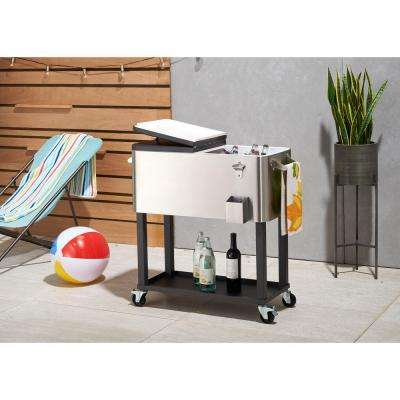 80 Qt./20 Gal. Stainless Steel Cooler with Cooler Cover