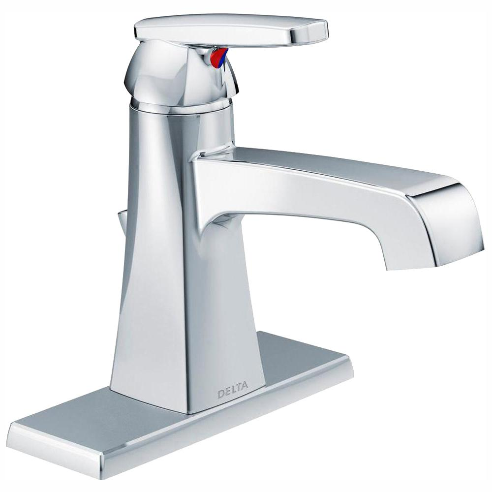 Delta Ashlyn Single Hole Single-Handle Bathroom Faucet with Metal Drain Assembly in Chrome
