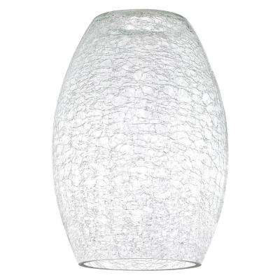 8-7/8 in. Clear Crackle Shade with 2-1/4 in. Fitter and 6-5/16 in. Width