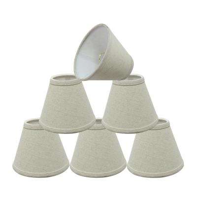 6 in. x 5 in. Oatmeal Hardback Empire Lamp Shade (6-Pack)