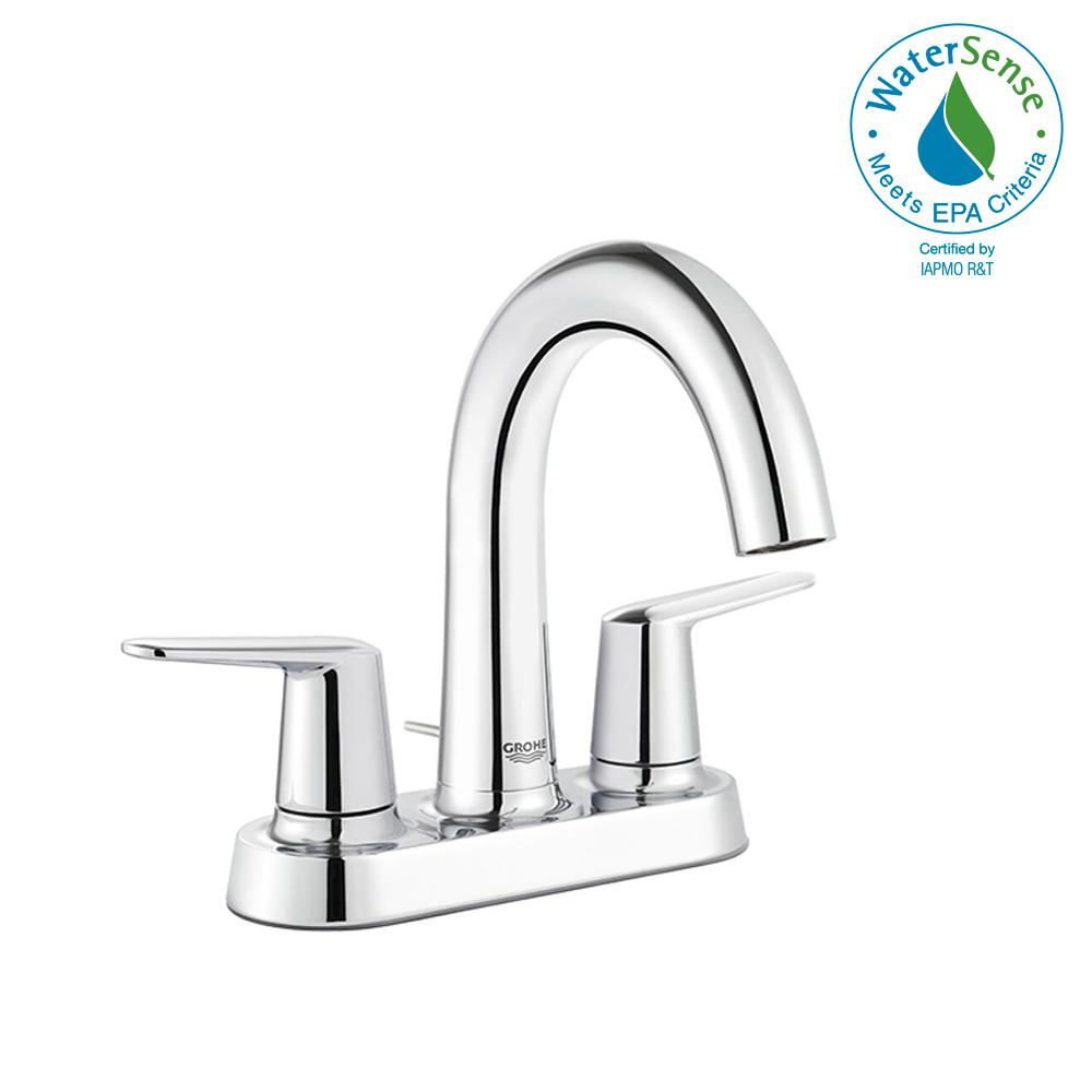 High Spout Bathroom Faucet: GROHE Veletto 4 In. Centerset Two-Handle High-Spout