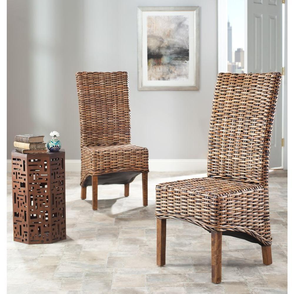 Isla Brown Mango Wood Side Chair (Set of 2)