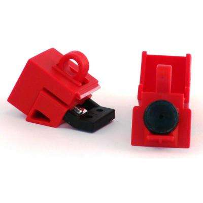 Universal 120-277-Volt Single-Pole Breaker Lockout, Red (3 per Card)