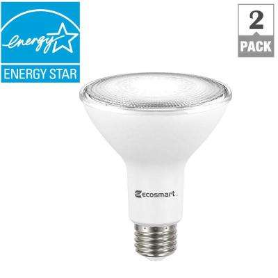 75-Watt Equivalent PAR30 Dimmable LED Flood Light Bulb, Daylight (2-Pack)