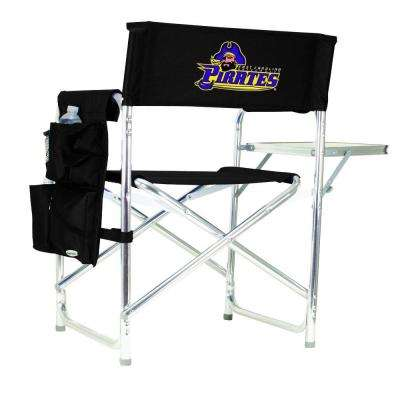 East Carolina University Black Sports Chair with Digital Logo