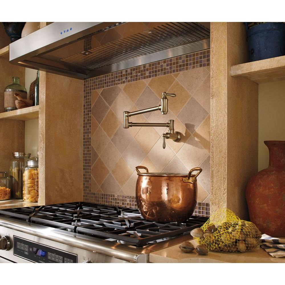 Delta Traditional Wall-Mounted Potfiller in Champagne Bronze