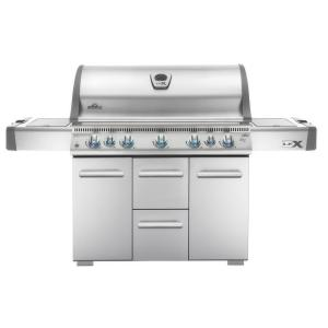 NAPOLEON LEX 730 with Side Burner and Infrared Bottom and Rear Burners Natural... by NAPOLEON