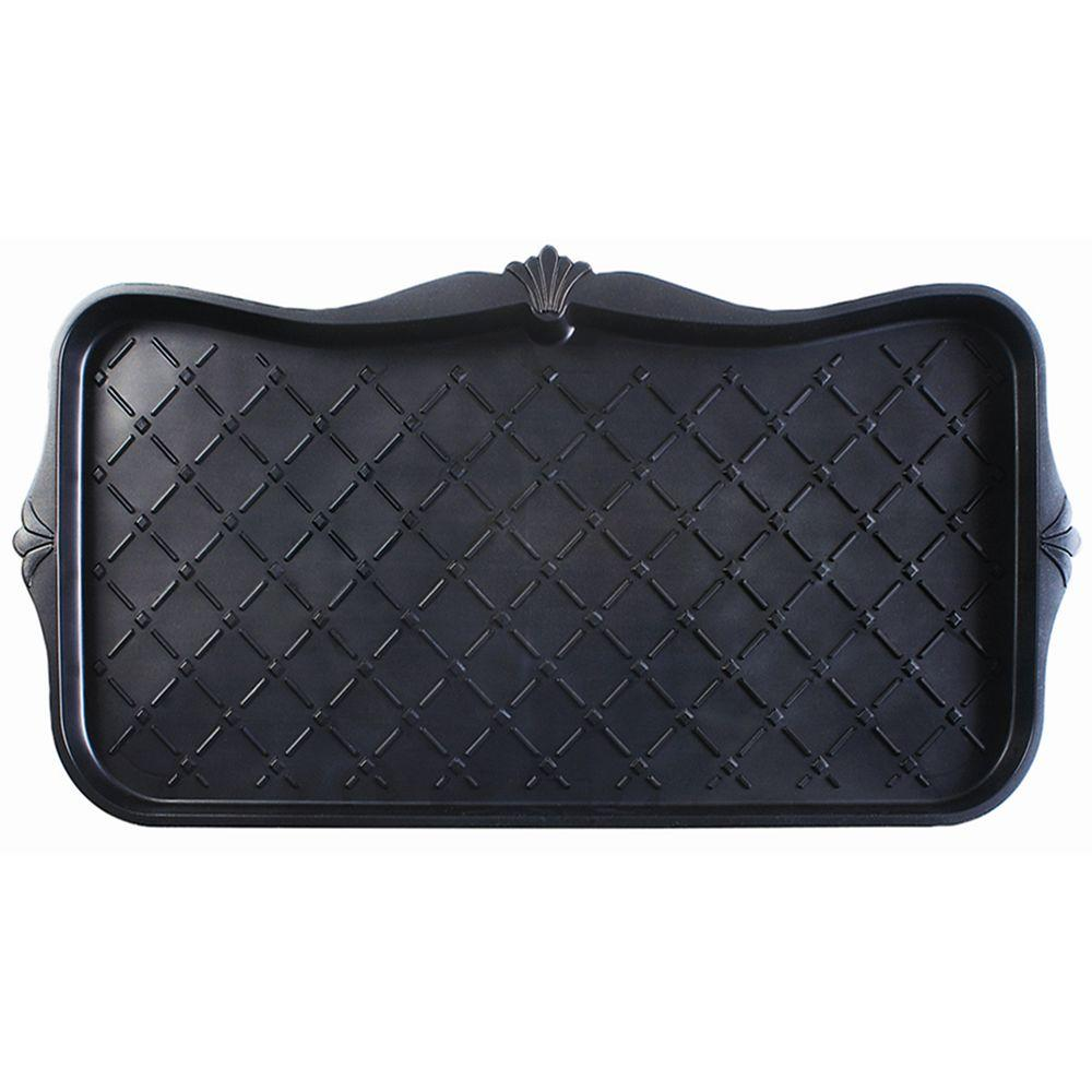 Multy Home Majestic 15 in. x 30 in. Black Boot Tray