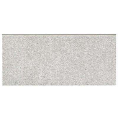 Twenties Grey 3-1/2 in. x 7-3/4 in. Ceramic Bullnose Floor and Wall Trim Tile
