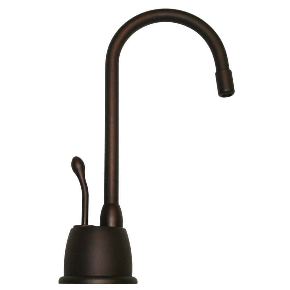 Whitehaus Collection Forever Hot Single-Handle Instant Hot Water Dispenser in Mahogany Bronze