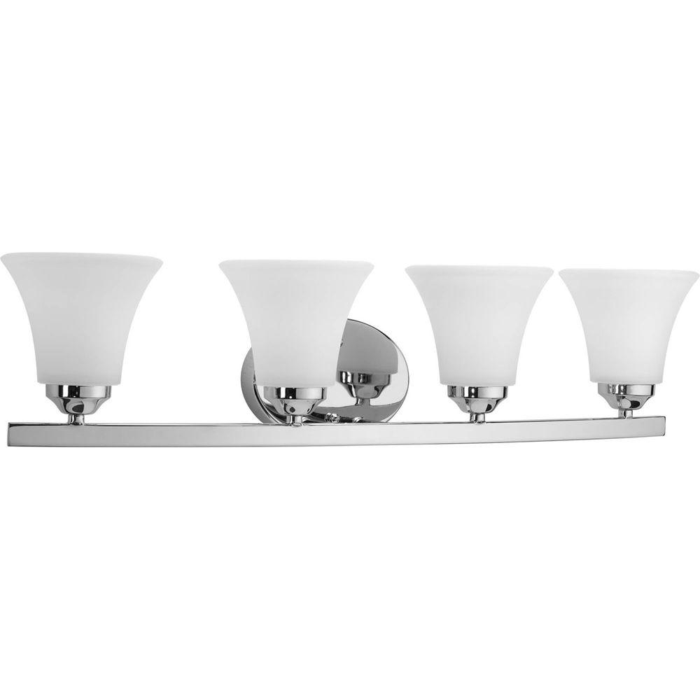 Progress Lighting Adorn Collection 4-Light Chrome Bath Light