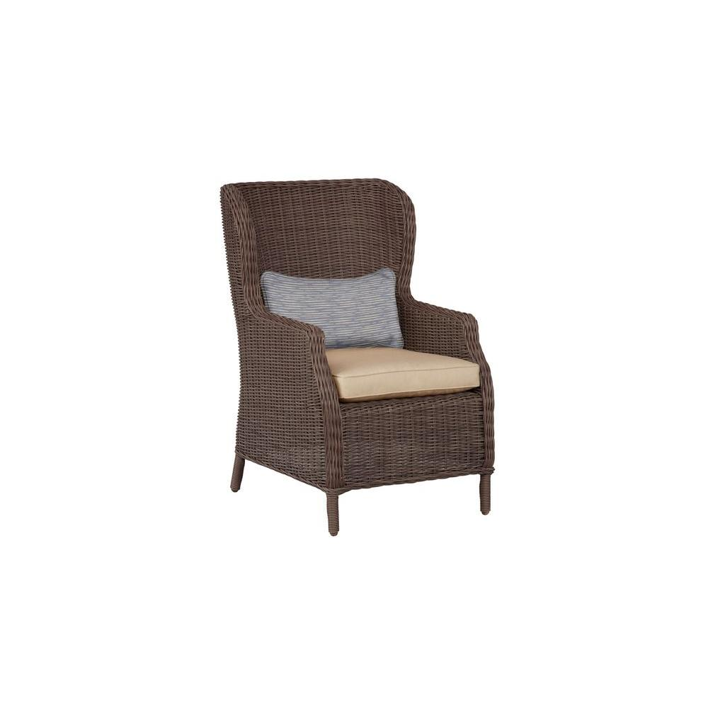 Vineyard patio cafe chair in harvest with congo lumbar pillow 2 pack custom