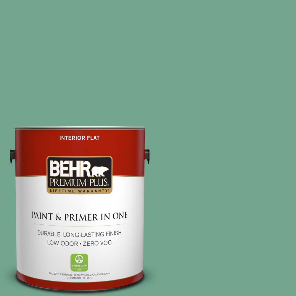 BEHR Premium Plus 1-gal. #M420-5 Free Green Flat Interior Paint