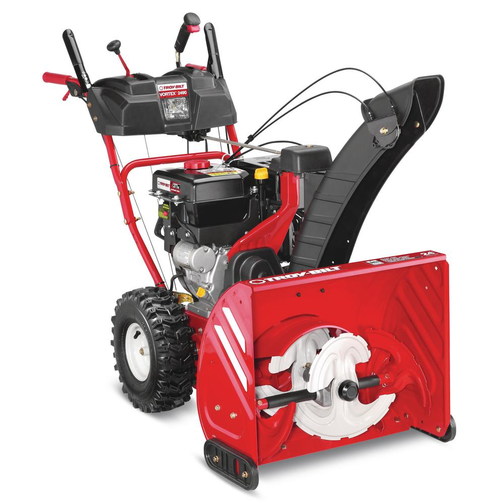 Troy Bilt Vortex 24 In 277cc Three Stage Electric Start Gas Snow