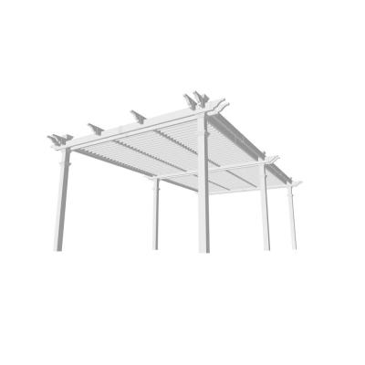 Bristol 12 ft. x 24 ft. White Vinyl Louvered Pergola