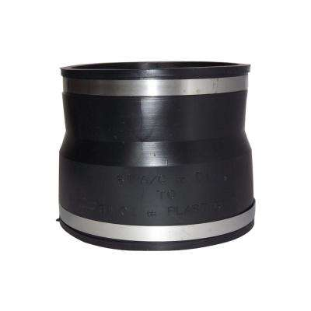6 in. x 6 in. PVC A.C., Fibre or D.I. to C.I. or Plastic Flexible Coupling