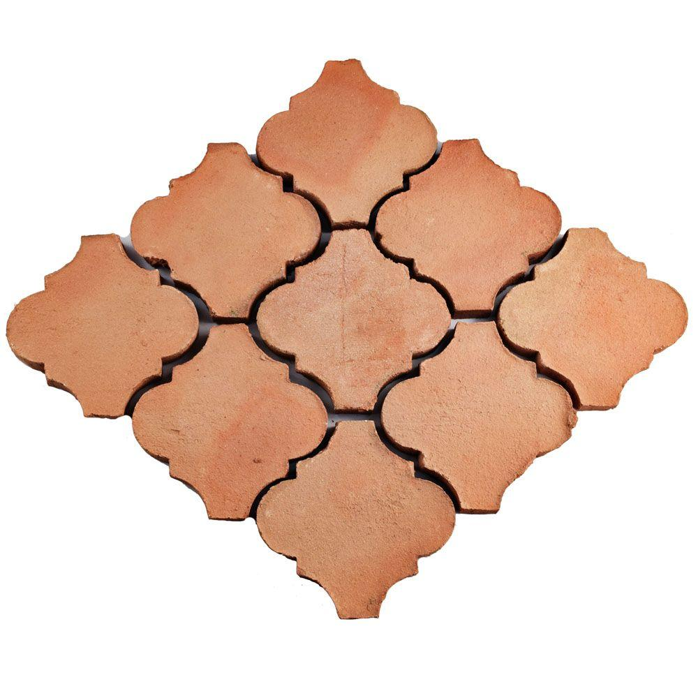 Merola Tile Trevol Lantern 6 In X Spanish Terra Cotta Ceramic Floor