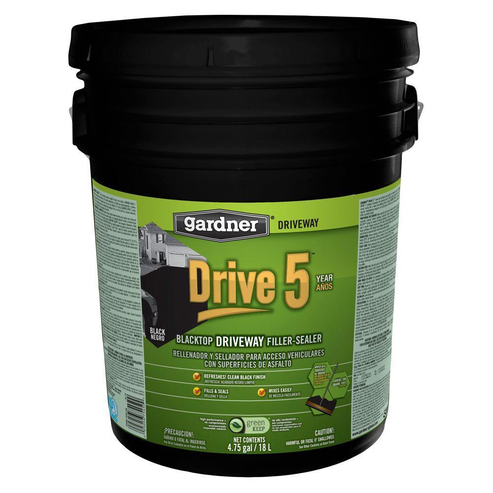 4.75 Gal. Drive 5 Blacktop Driveway Filler/Sealer