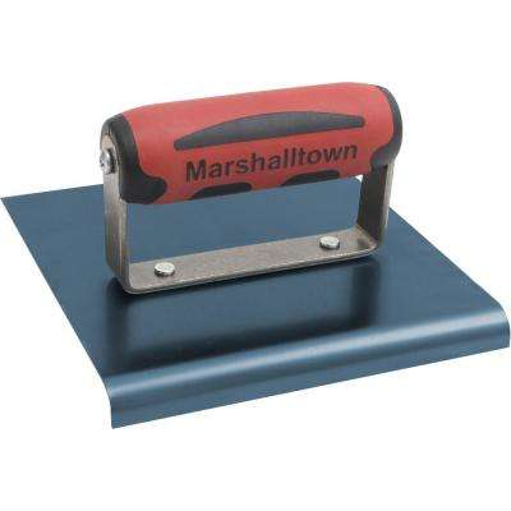 6 in. x 6 in. Blue Steel Edger - Durasoft Handle