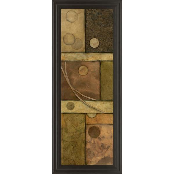 "Classy Art 18 in. x 42 in. ""Circle Game II"" by Norm Olson Framed Printed Wall Art"
