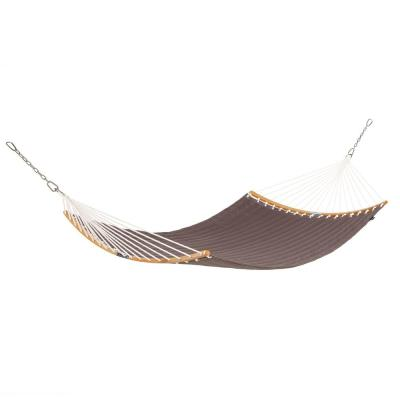 Ravenna ConnectCurve 81 In. L x 55 In. W Quilted Hammock Bed in Dark Taupe