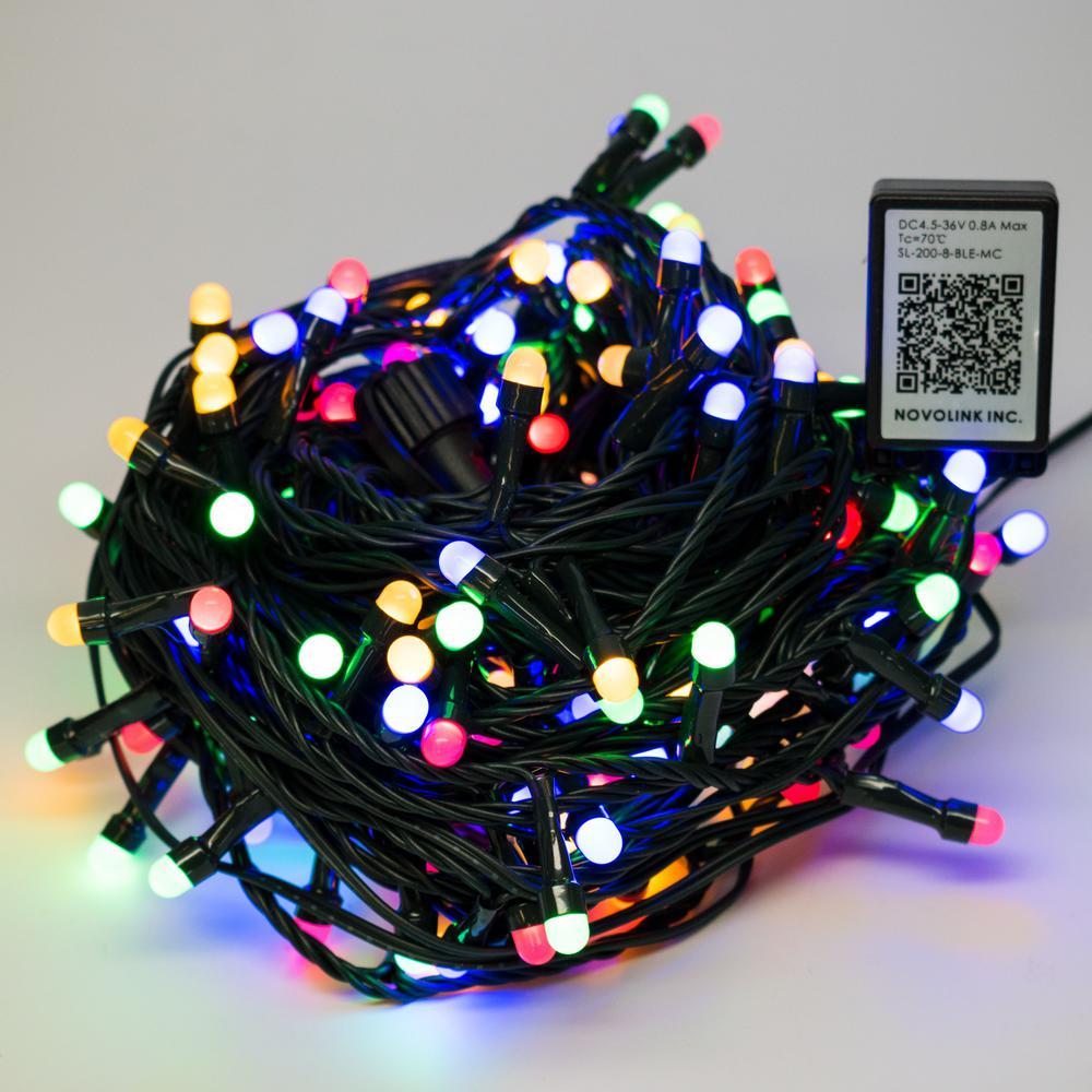 novolink bundle 200 light 8 mm mini globe multi color led string light with - Mm Christmas Lights