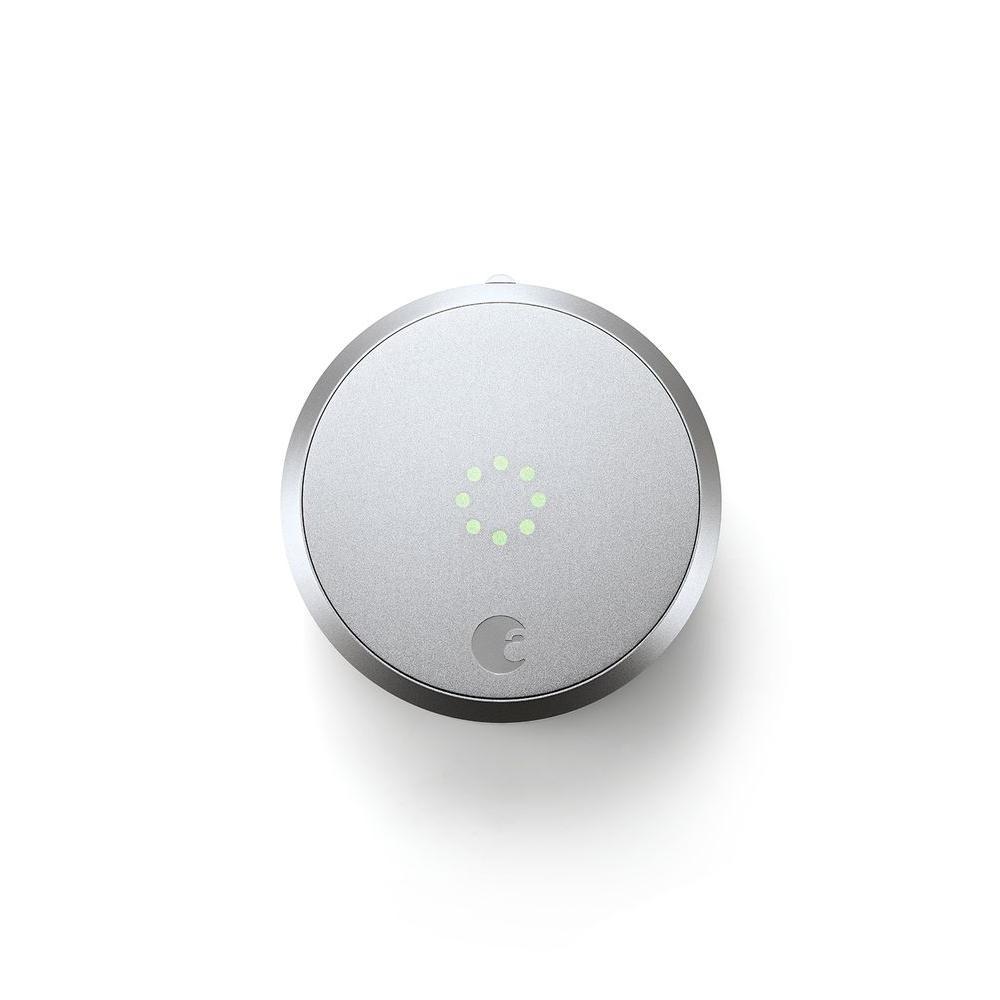 August Smart Lock Homekit Enabled Silver Aug Sl02 M02 S02