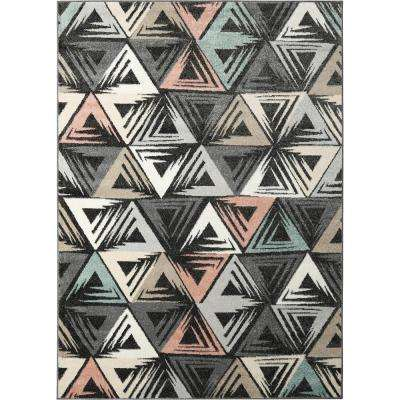 New Weave Charcoal/Multi 7 ft. 10 in. x 10 ft. 2 in. Indoor Area Rug