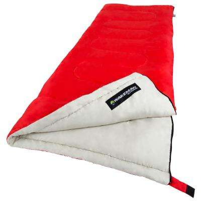 75 in. L 2-Season Sleeping Bag in Red