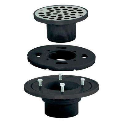 2 in. x 3 in. ABS Low Profile Floor and Shower Drain