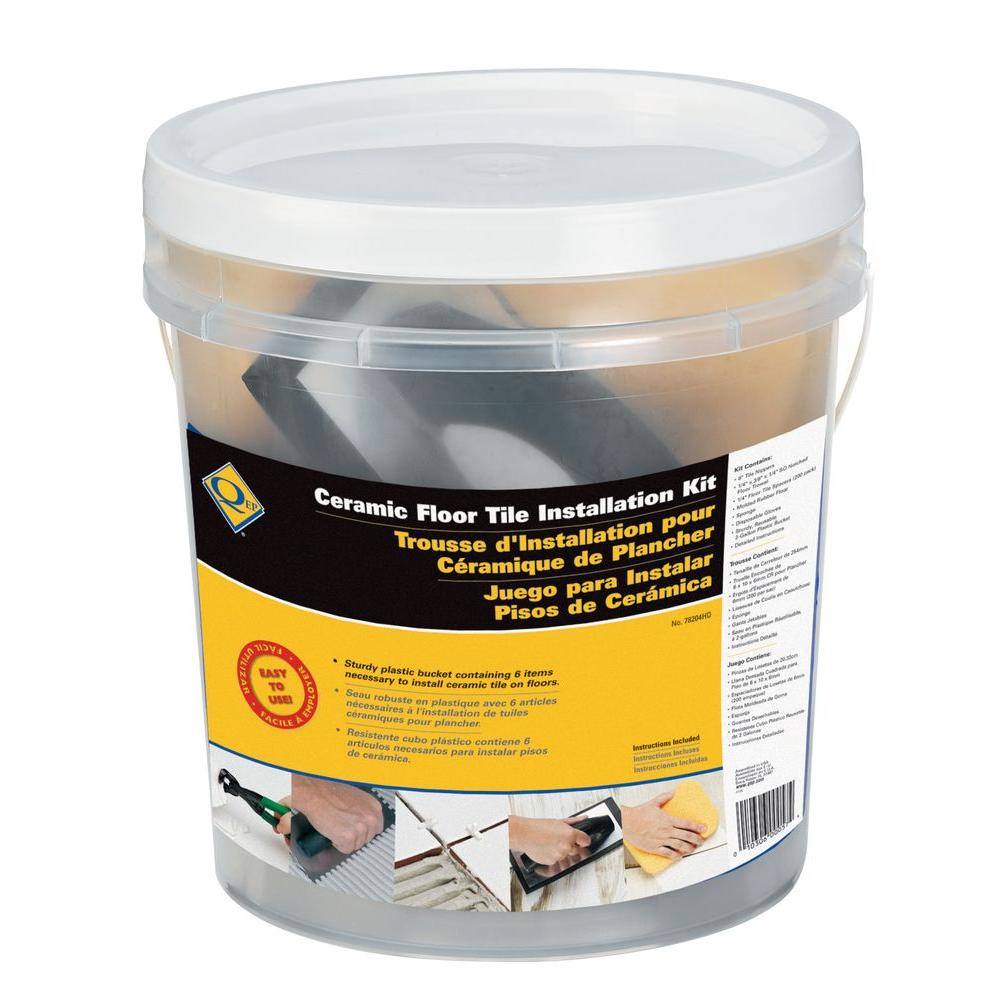 Hdx Tile Installation Tool Kit For Floors And Countertops In 35 Gal
