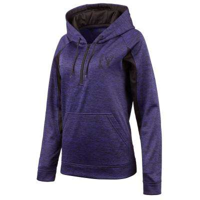 HUNTWORTH Women's Large Heather Violet / Black Hooded Pullover