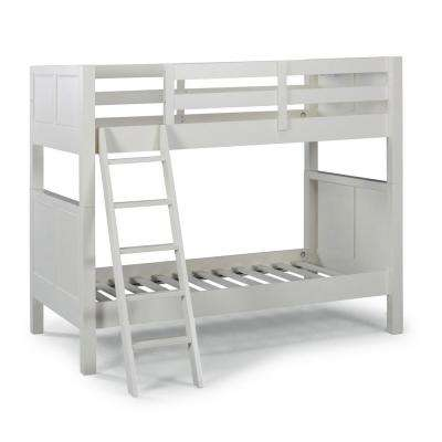Naples Off White Twin Over Twin Bunk Bed