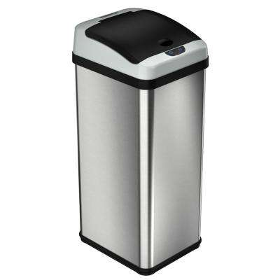 Platinum Rectangular Extra Wide Stainless Steel Automatic Sensor Trash Can