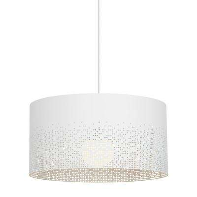 Crossblend grande 1 light white pendant