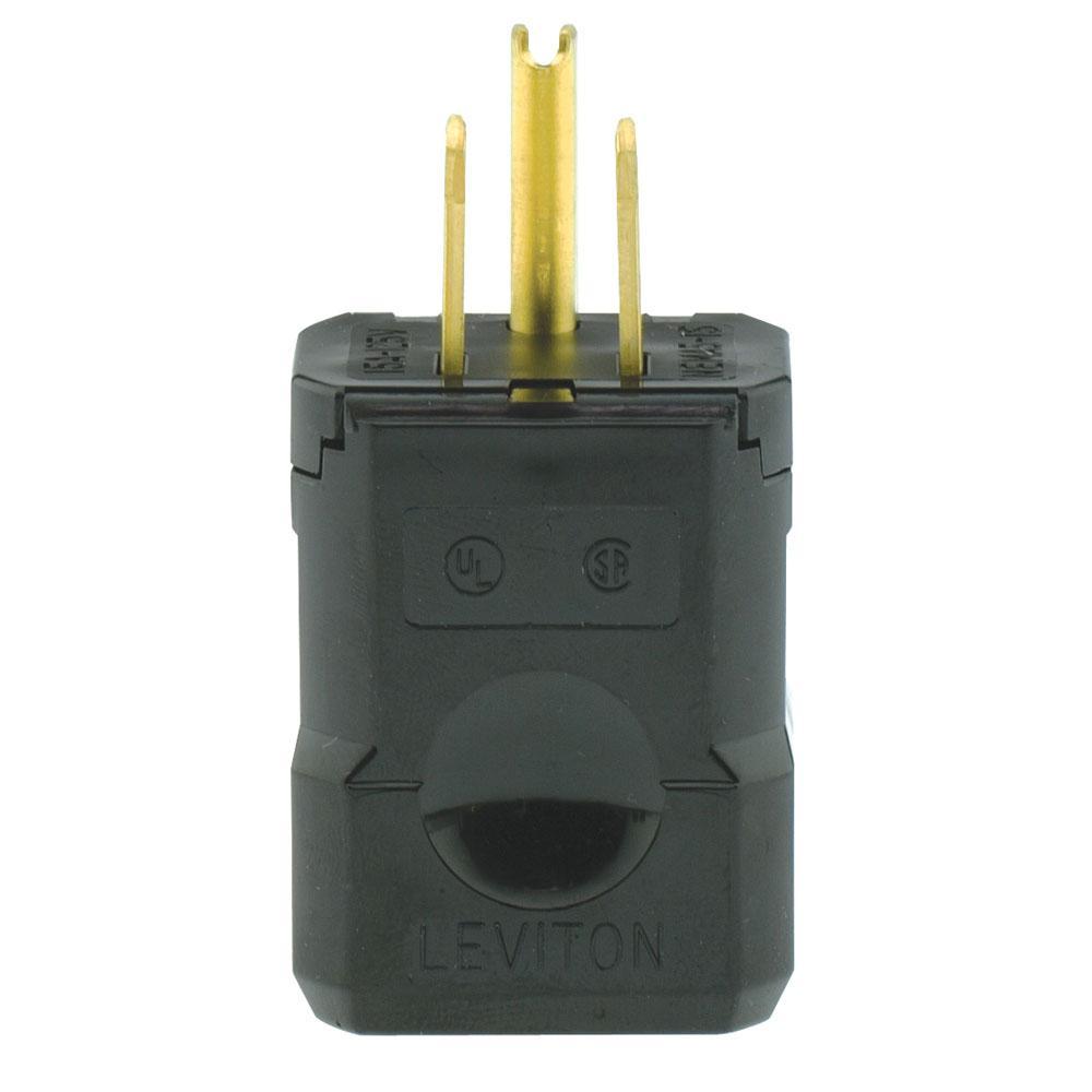 Leviton 15 Amp 125-Volt 3-Wire Plug, Orange-R51-515PV-0OR - The Home ...