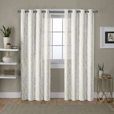 white grommet sheer curtains drapes window treatments the home depot. Black Bedroom Furniture Sets. Home Design Ideas