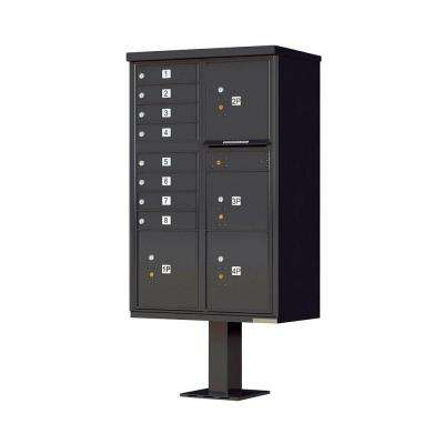 1570 Series 8-Mailboxes, 1-Outgoing Compartment, 4-Parcel Lockers, Vital Cluster Box Unit