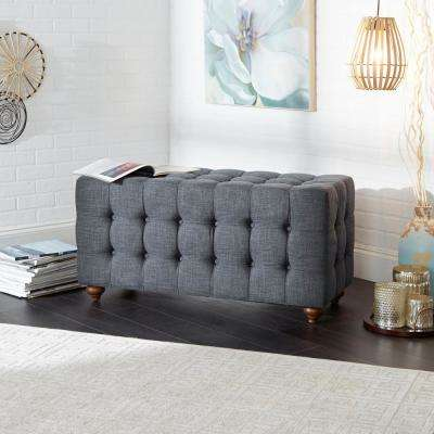 Vada Dark GrayTufted Upholstered Bench