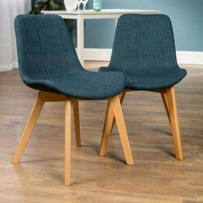 Blue Upholstered Side Chair (Set of 2)