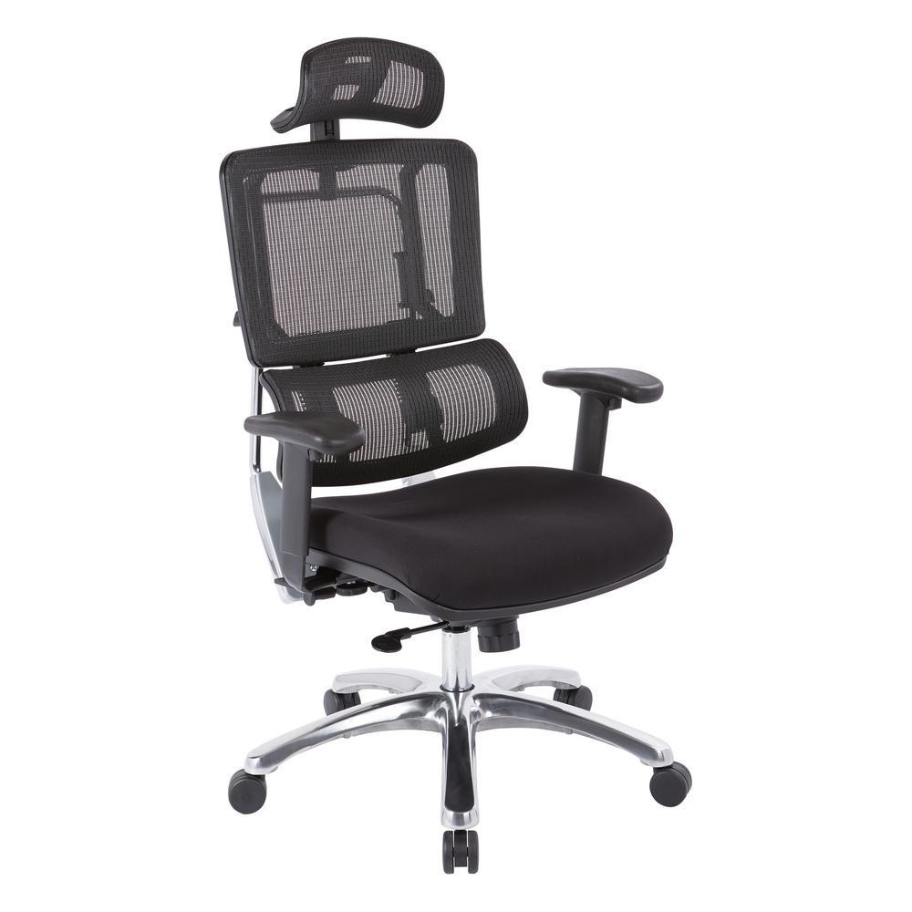 Black Mesh Vertical Back Office Chair