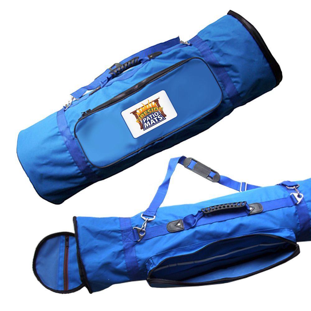 Blue Mat Carry Bag with Adjustable Shoulder Strap for 9 ft. x 12 ft. Mats