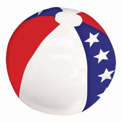 13 in. Patriotic Inflatable Beach Ball (9-Pack)