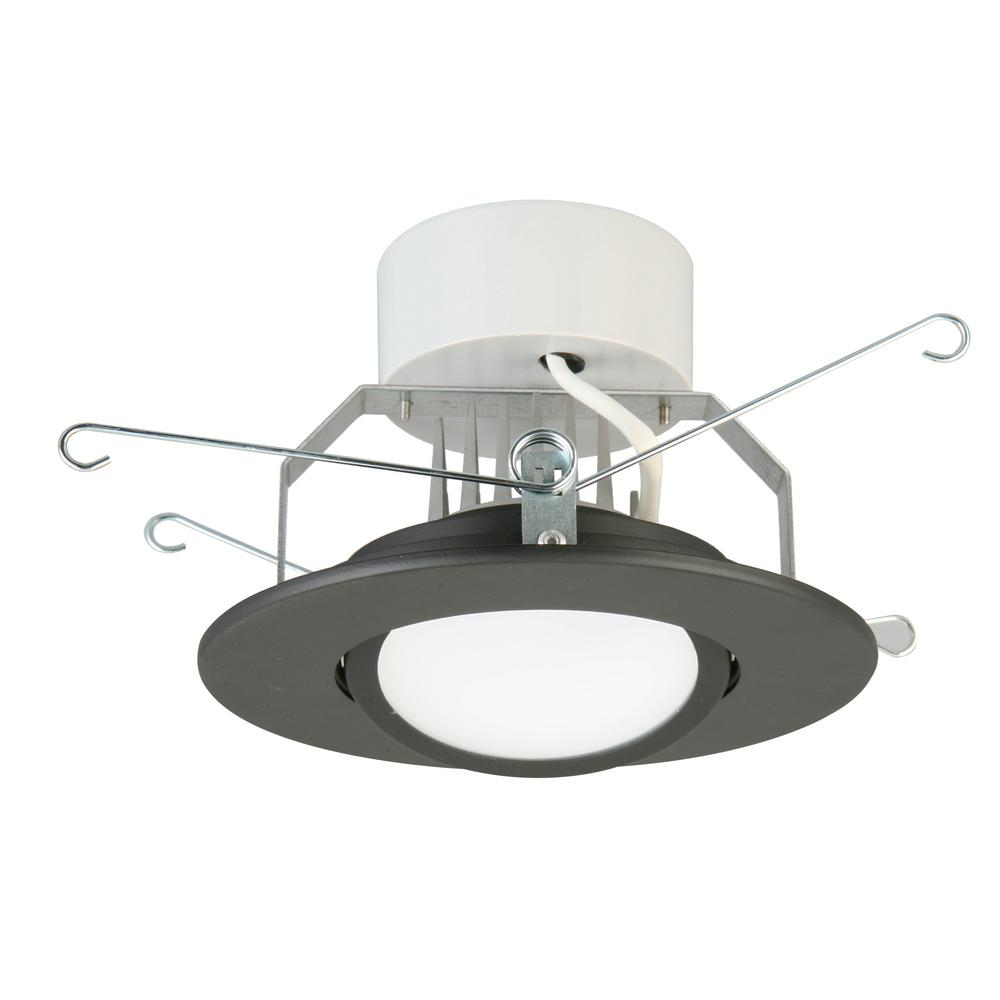 Lithonia Lighting 5 in. Matte Black Integrated LED Recessed Gimbal Kit was $47.06 now $18.21 (61.0% off)