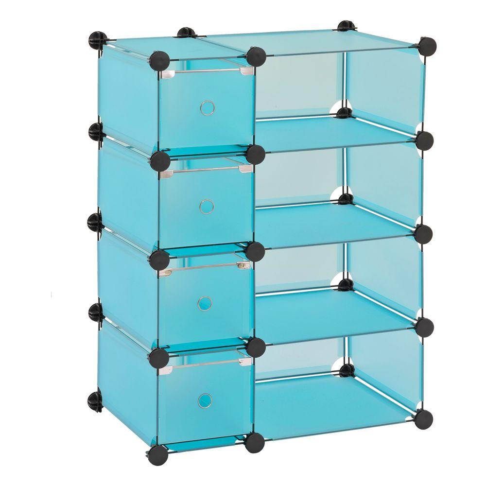 Sandusky 32.5 in. W x 32 in. H x 14.75 in. D Blue Cube Storage